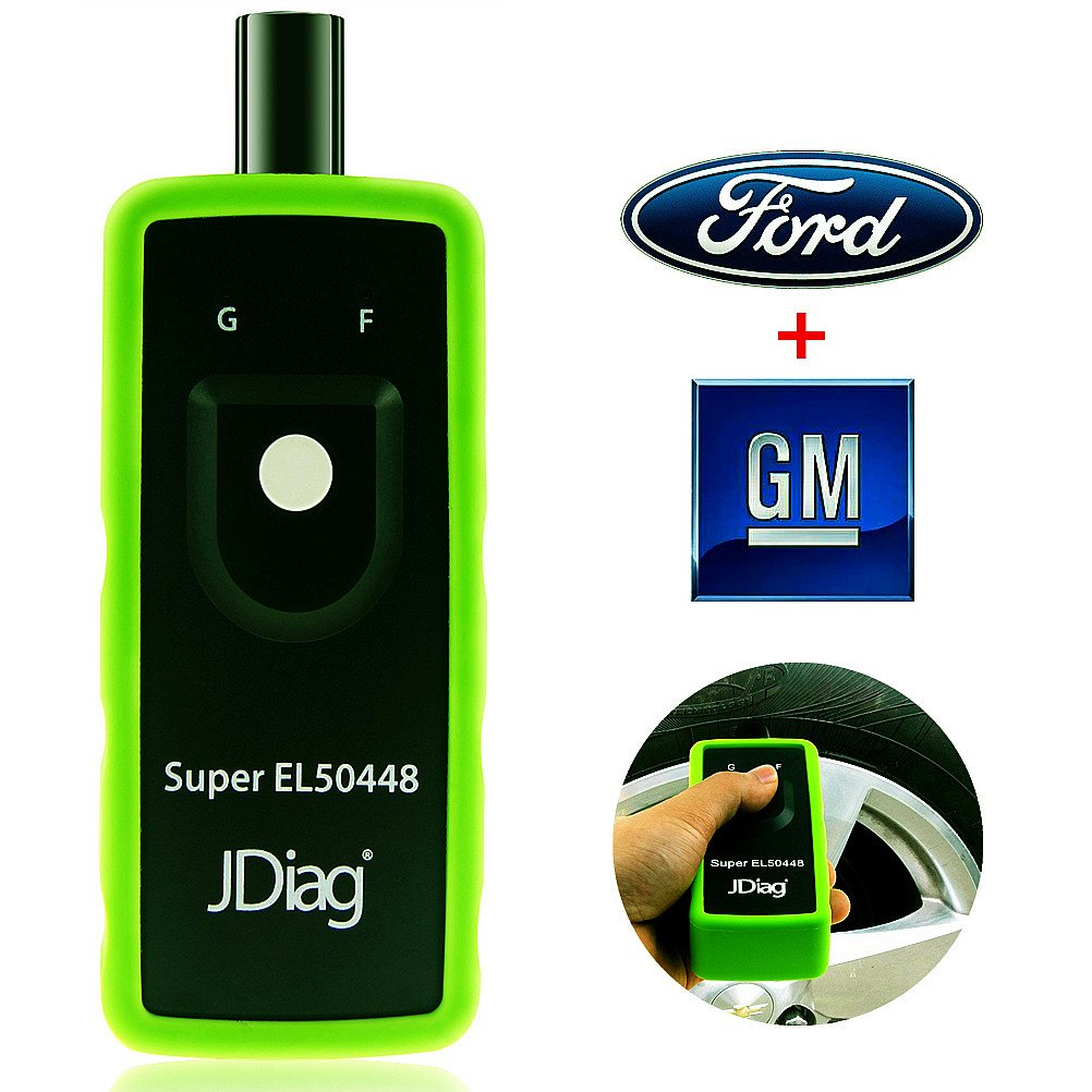 JDiag Supper EL-50448 Auto Tire Pressure Monitor Sensor TPMS Relearn Reset Activation Tool OEC-T5 EL-50448 for GM and Ford cars by JDiag (Image #1)