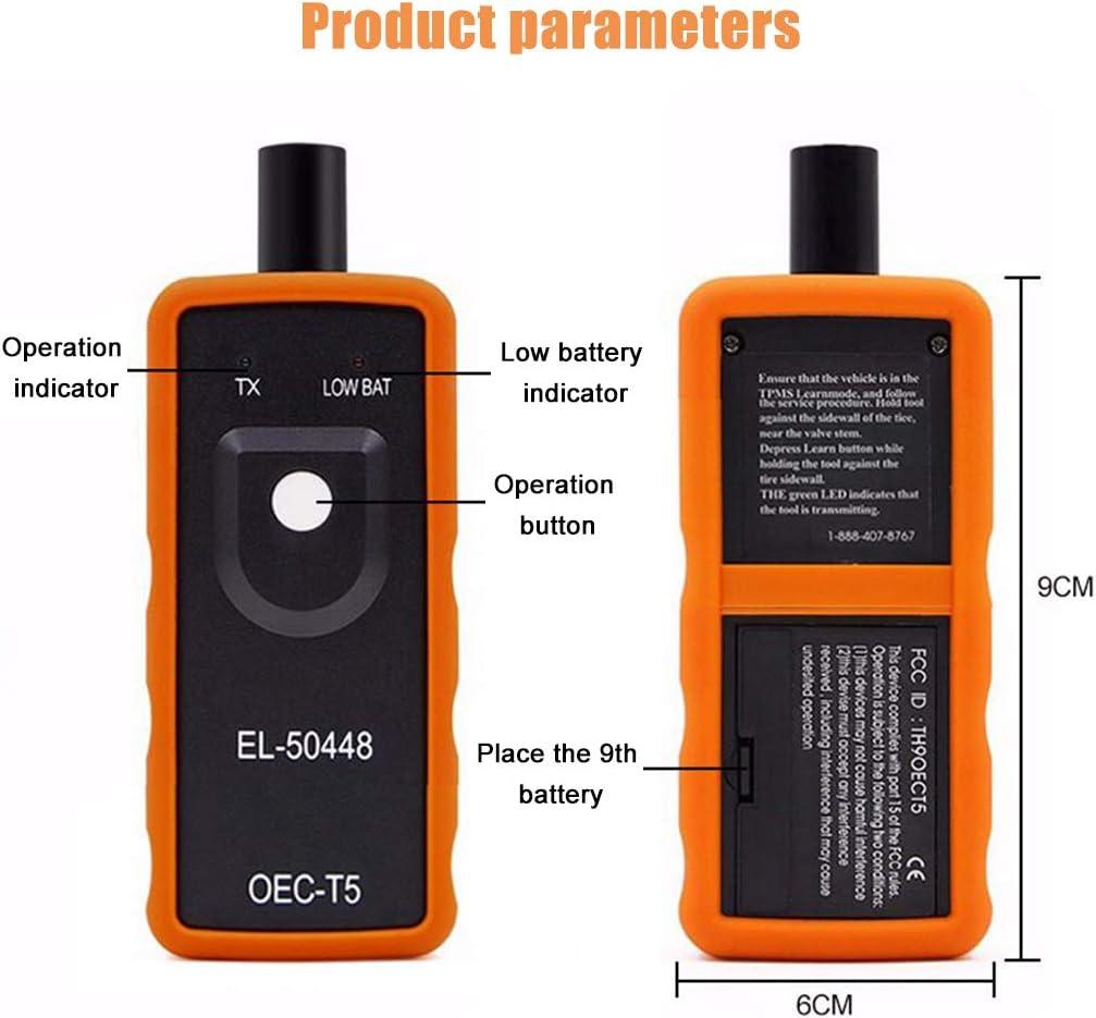 EL-50448 Auto Reifendruck-Monitor Sensor TPMS Aktivierungswerkzeug TPMS Reset Tool OEC-T5 f/ür GM Fahrzeugserie /überpr/üfen Sie das TPMS System Gesundheit Zustand
