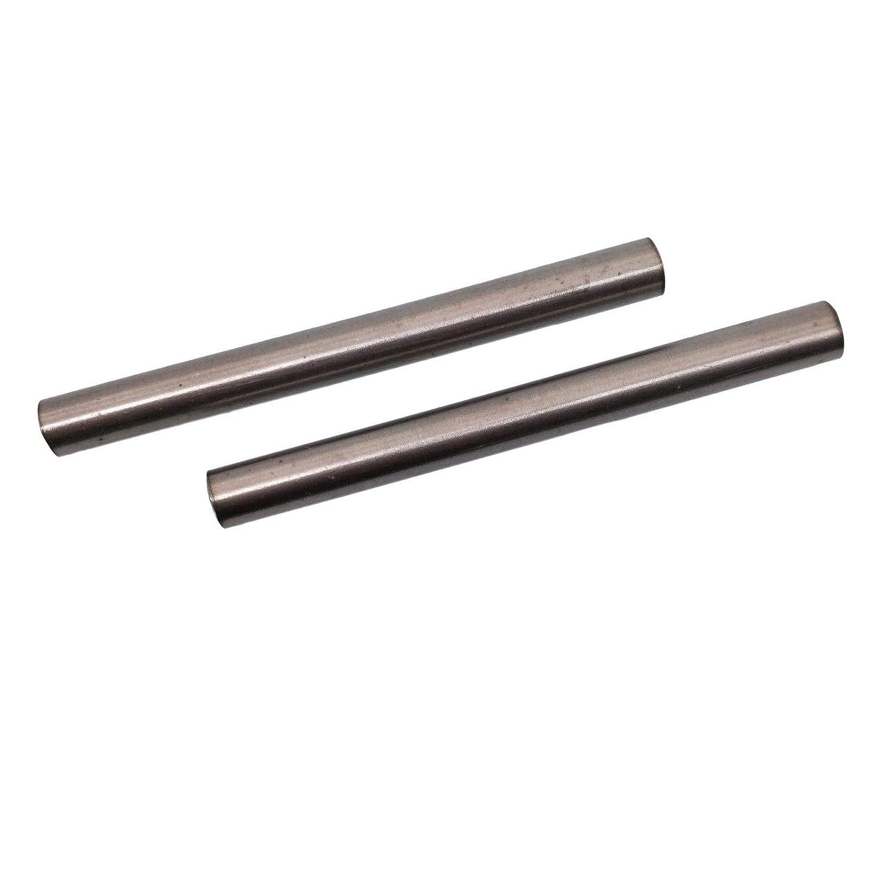BCP 4mm x 30cm Titanium Unpolished Round Rod Mill Finish Half-Hard Temper TC4 Titanium Alloy