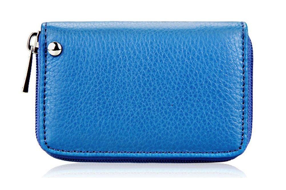 Kreditkartenetui Leder Frauen Displayschutzfolie Kleine Geldbörse Reißverschluss Brieftasche small gelb LXJ