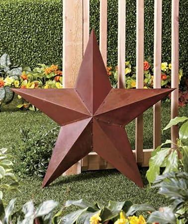 3 Ft Rustikal Bold Metall 3d Barn Star Zaun Wand Decor Amazon De