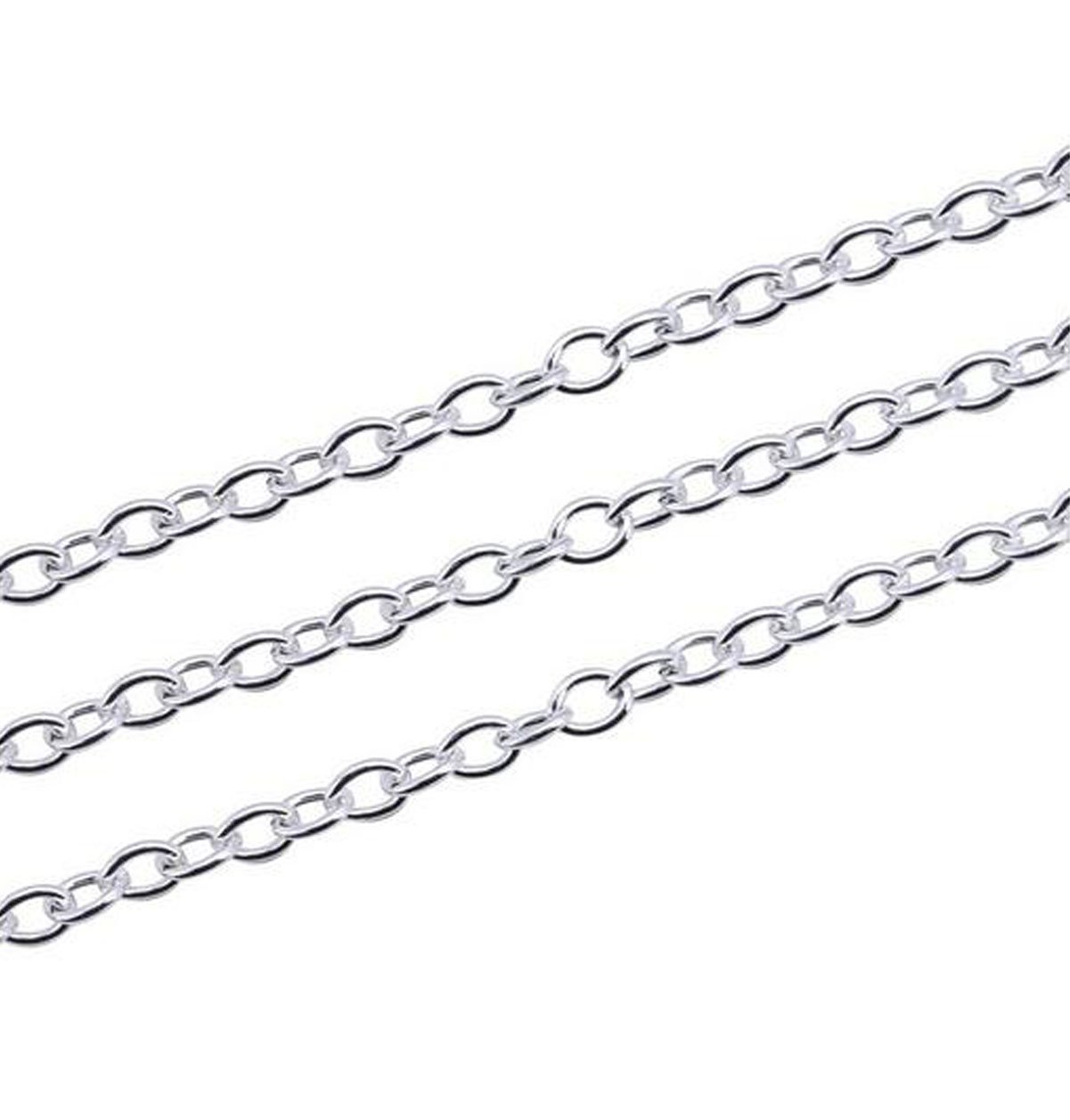 19.7ft 4x6mm Iron Twisted Cross Chain and 20pcs Lobster Buckle 100pcs Open Circle Combination Bronze DIY Making Jewelry Accessories Chain
