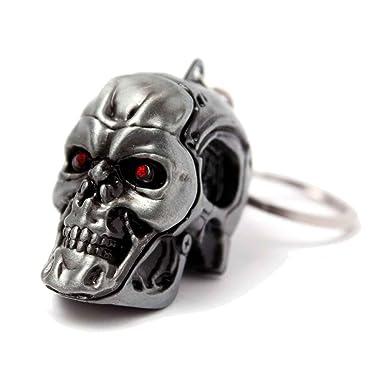 Amazon.com: Terminator Llavero Llavero 3d metal T-800 ...