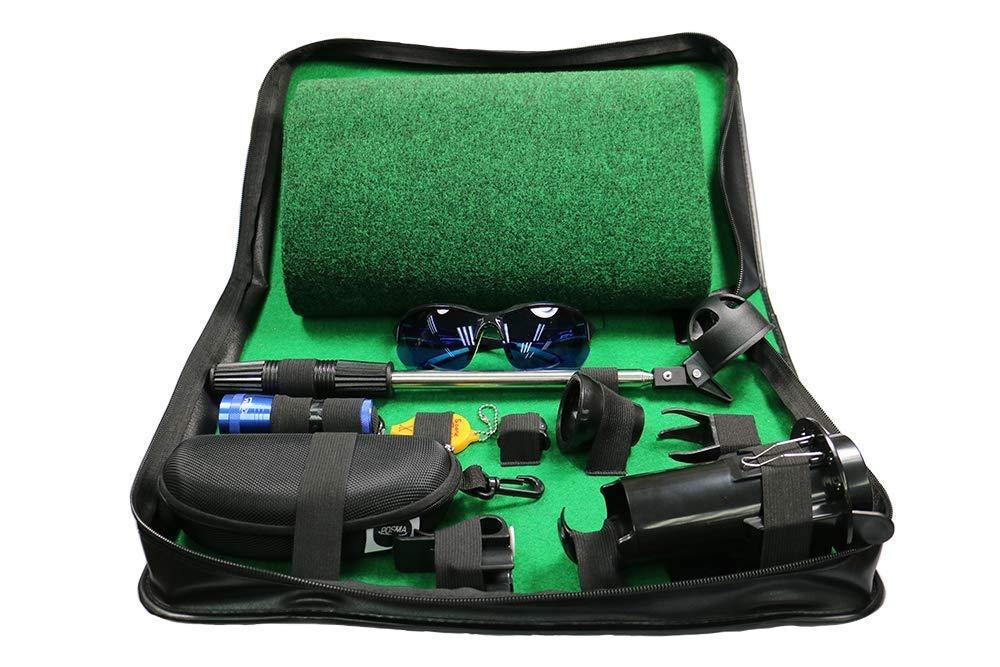 IDS Home Posma GSB050B ゴルフボール レトリバー フェアウェイ 通路 アクセサリー ギフトセット ゴルフボール 補助ケース パッティングマット付き   B07JYWGVTR