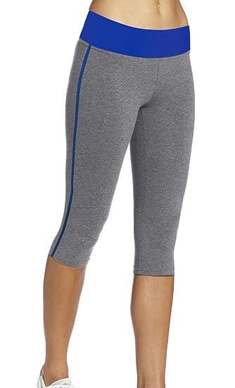 1b3d5ef864dead iLoveSIA Women's Tight Capri Workout 3/4 Legging US Size S Grey+Blue at  Amazon Women's Clothing store: