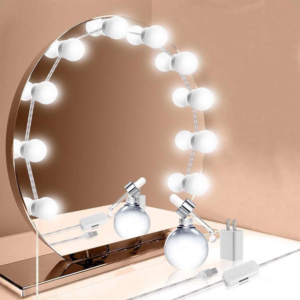 Amazon com aolvo hollywood style led vanity mirror lights kit 9 8