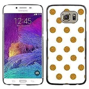 Cubierta protectora del caso de Shell Plástico || Samsung Galaxy S6 SM-G920 || White Polka Dot Pattern Minimalist @XPTECH
