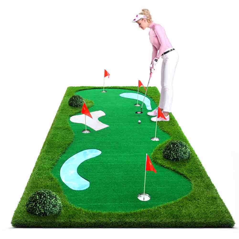 All-In-One Mutil Function Golf Practice Mat----Chipper/Irons/Driver/Putter Practice Mat,4.92FT X 11.48FT
