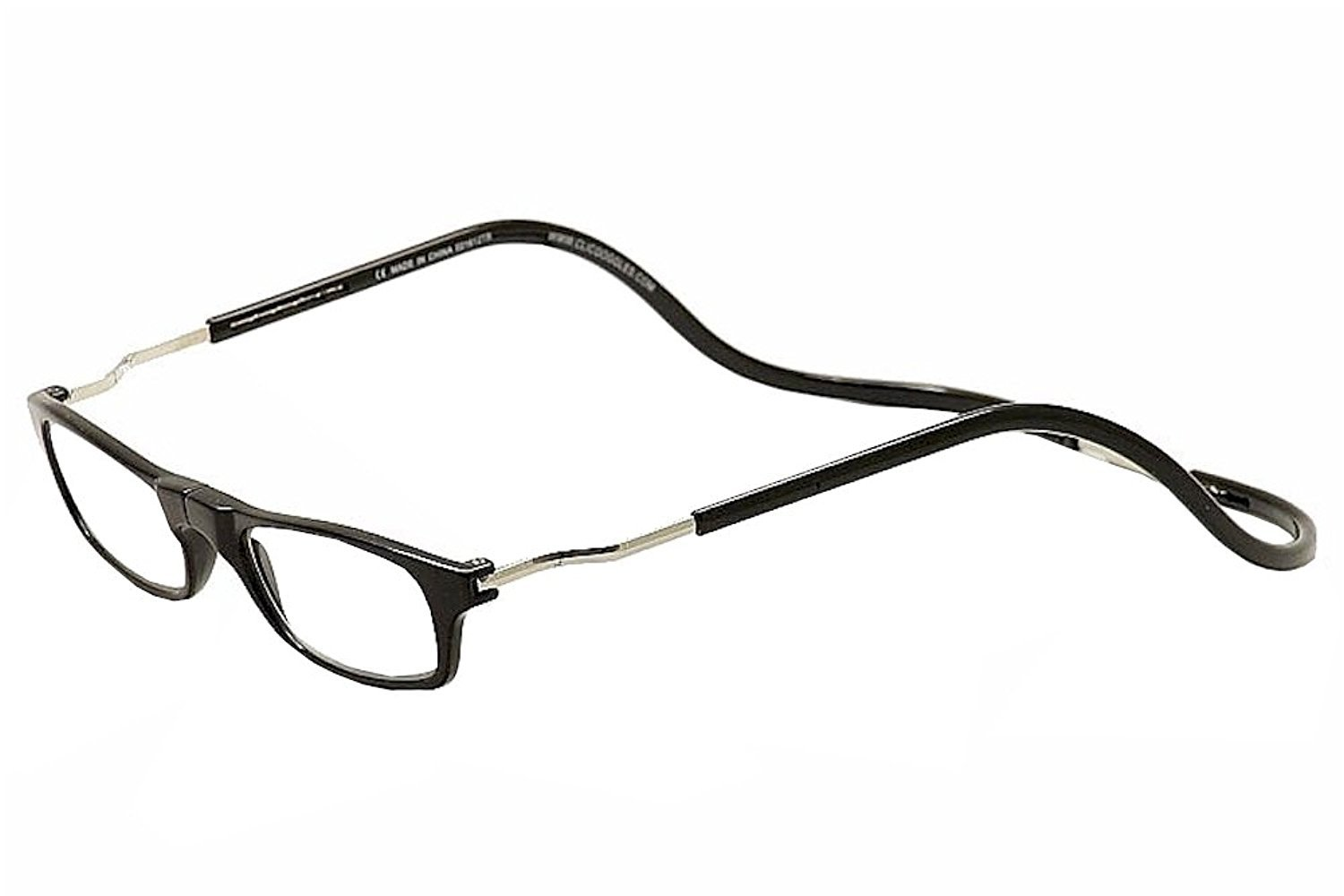 Clic Black Expandable XXL Reading Glasses, Black +2.50