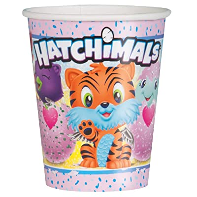 Unique Hatchimals Paper Party Cups, 8 Ct.: Toys & Games