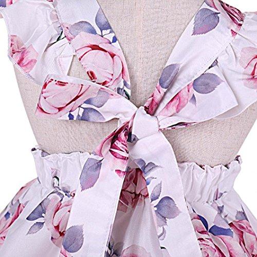 3ed19c35d Venta caliente 2018 DRESS_start Vestido Para Bebé NiñAs Vestido ImpresióN  Floral Sin MangasSin Respaldo Bowknot Sin Mangas Vestido De Tutú Fiesta ...