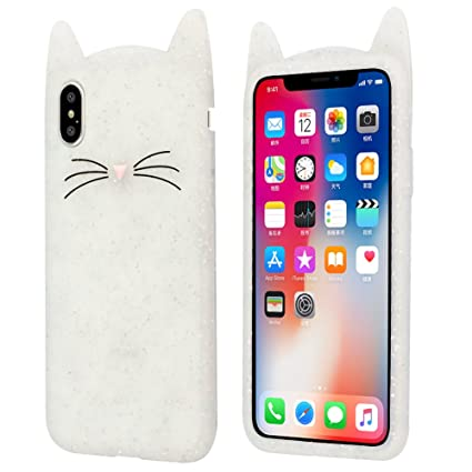 best service 47e7d 16c47 Aafiya Vivo V11 Pro Cat Covers,Cute 3D Mustache Cat Kitty Soft Silicone  Mobile Phone Back Cases for Vivo V11 / Vivo V11 Pro-White