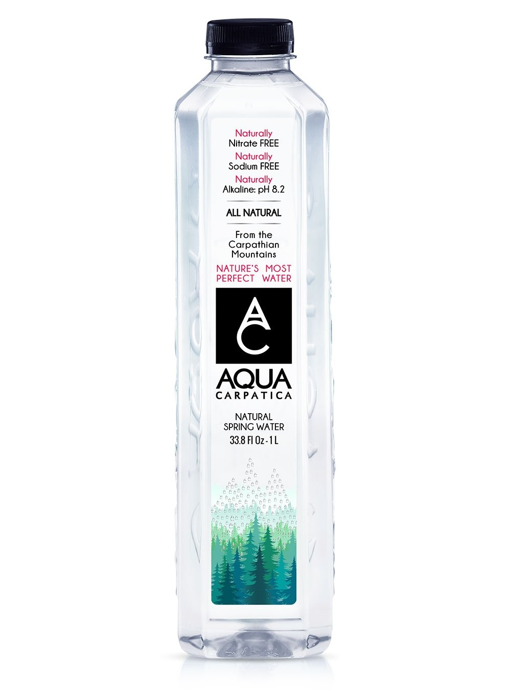 Aqua Carpatica Natural Spring Water (1L) - 12 Pack