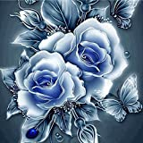 Cyhulu 5D DIY Diamond Embroidery Painting, Realistic Flower 5D Embroidery Paintings Rhinestone Pasted DIY Diamond Painting Cross Stitch Craft Home Office Decor Gift Art Wall Sticks (C, One size)