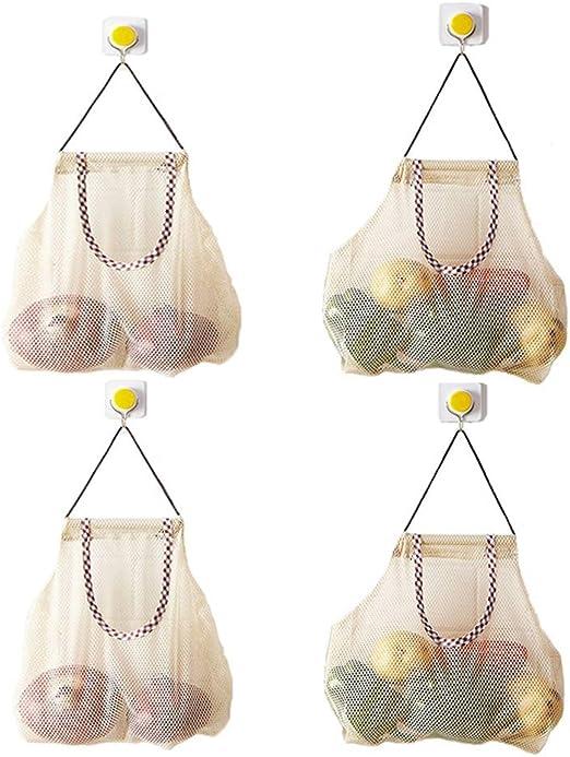 Bolsa de almacenamiento de cocina de ajo Jengibre Malla Vegetal Cebolla Patata de almacenamiento 8C