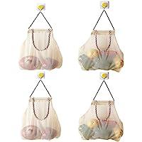 Reusable Hanging Storage Mesh Bags - Hatisan Durable & Strong Fruit and Vegetable Mesh Bags/Pulling resistance Storage…