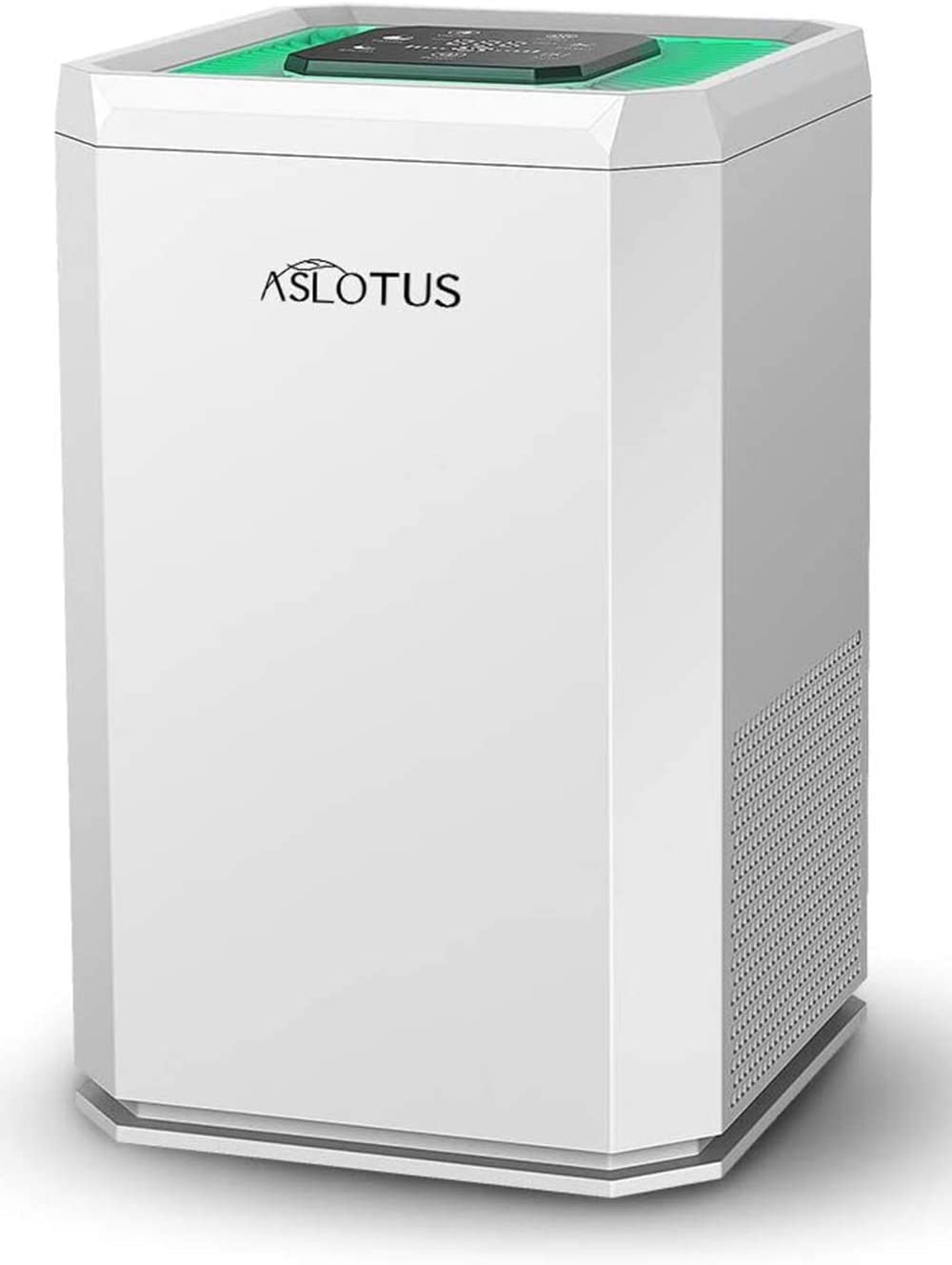 ASLOTUS Air Purifier with True HEPA Filter Cleaner for Home, Bedroom, Office - Filters Allergies, Pollen, Smoke, Pet Dander, Dust, Mold, Odors - 100% Ozone Free, Lock Set, 26dB Quiet, KJ130V1