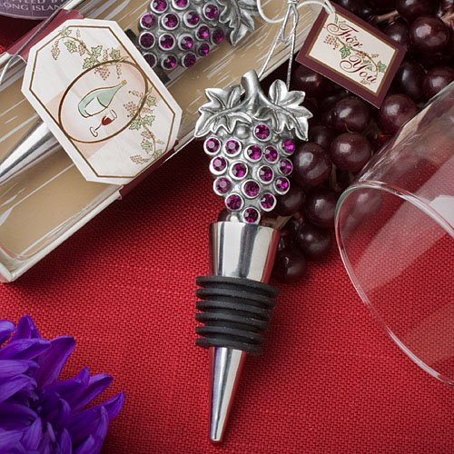 Vineyard Collection wine bottle stopper favors [SET OF - Bridal Vineyard Collection