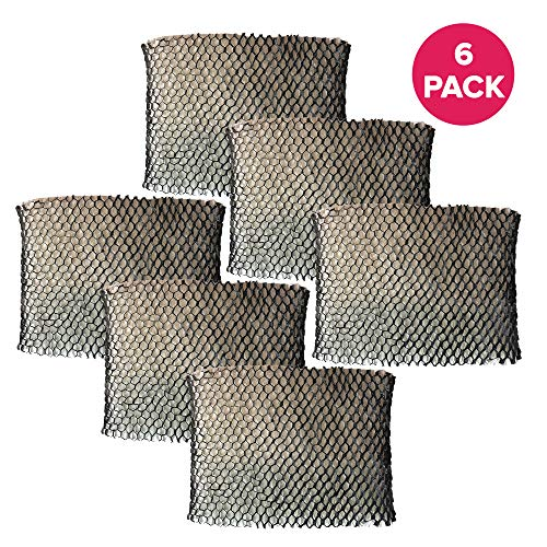 Crucial Air Humidifier Wick Filter Replacement Part # HWF64 Filter B - Compatible with Holmes Air Filters Model HM1761, HM1645, HM1730, HM1745, HM1746, HM1750, HM2200, HM2220, SCM1746 - Bulk (6 Pack) (Humidifier Filters Sf213)