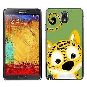 Paccase / SLIM PC / Aliminium Casa Carcasa Funda Case Cover - Cute Cheetah Leopard Animal - Samsung Note 3 N9000 N9002 N9005