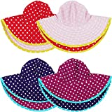 RuffleButts Baby/Toddler Girls UPF 50+ Sun Protective Wide Brim Reversible Swimwear Sun Hat