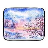 Ministoeb Winter Trees Love Art Laptop Storage Bag - Portable Waterproof Laptop Case Briefcase Sleeve Bags Cover