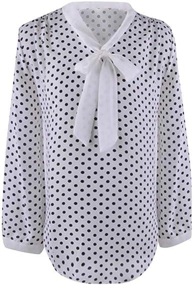 Mujer Camisas Primavera Otoño Elegante Chiffon Fashion Blusas ...