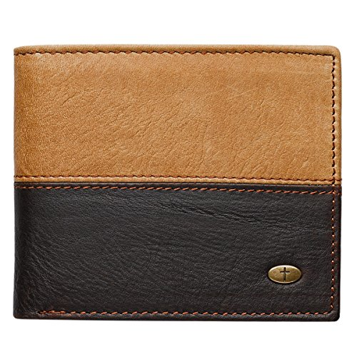 Two Tone Genuine Leather Wallet Cross product image