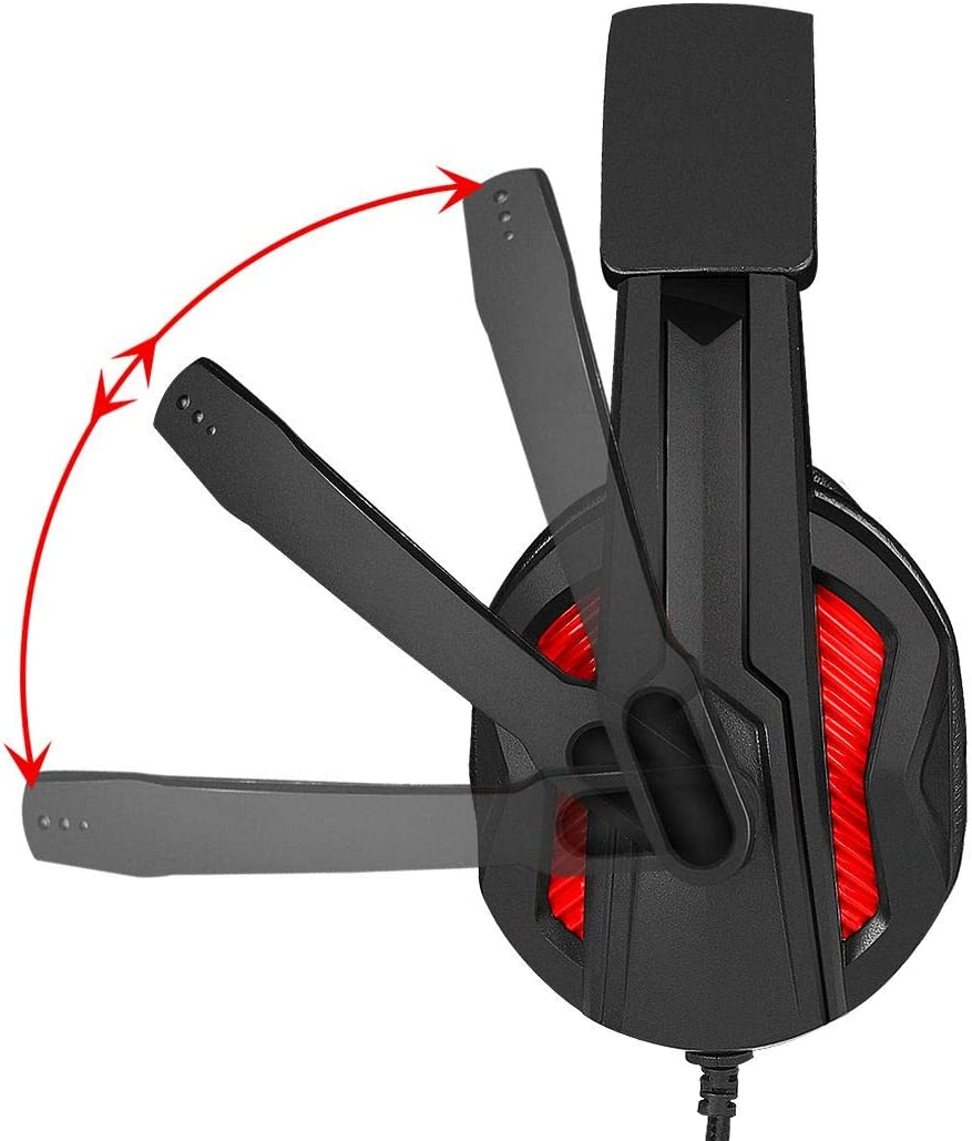 Strike Gear Commander Surround Stereo Gaming Headset with Soft Ear Pads, Swivel Microphone and Noise Cancellation, Compatible with Xbox One, PS4, PC and Others. (Adapter Included)
