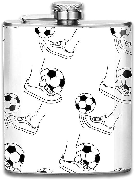 Snail Kicks Balón de fútbol Patrón Premium 304 Frasco de cadera de ...