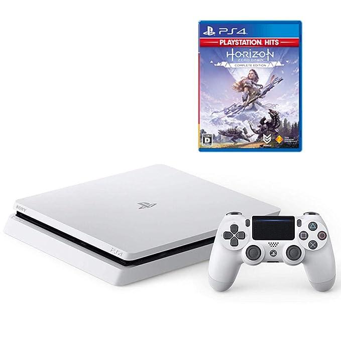 PlayStation 4 グレイシャー・ホワイト 1TB + Horizon Zero Dawn Complete Edition セット【Amazon.co.jp特典】オリジナルカスタムテーマ (配信)