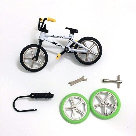 Kurphy Mini Size Simulation Alloy Finger Bike Children Kid Funnt Mini Finger Bike Toy With Brake Rope Best Birthday Gift