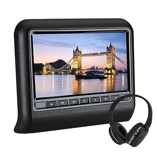 2 opinioni per WZMIRAI Universal 10.1 '' Car DVD poggiatesta lettore DVD multimediale Pelle
