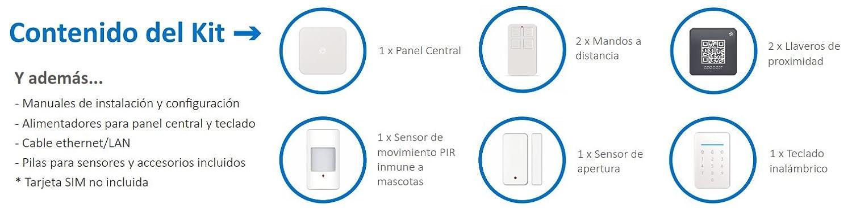 Kit de Alarma SIN cuotas Domótica TA-1 (WiFi + LAN + GSM) ▷ ¡TU Seguridad en TU mano, SIN cuotas y SIN límites! : Amazon.es: Industria ...