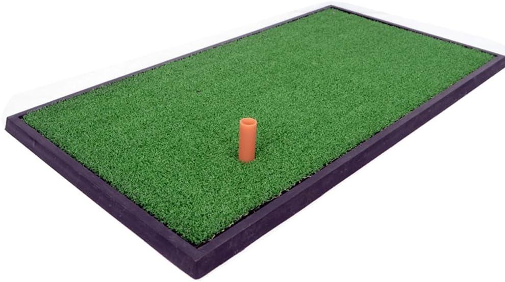 小さなゴルフ打撃マット、室内ポータブルゴルフ練習マットホームゴルフパターエクササイザ