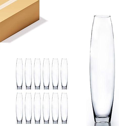 WGV Tall Bullet Glass Vase Bulk