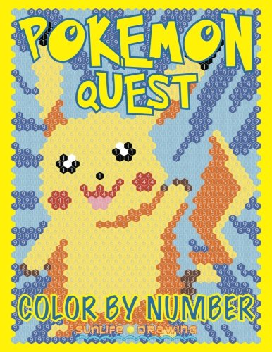 POKEMON QUEST Color by Number: Find 20 Pokemon Hidden by Numbers (Volume 2) Photo - Pokemon Gaming