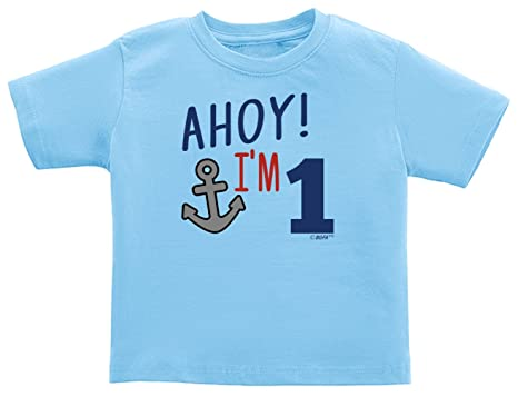 Baby Gifts For All Childs Birthday Shirt 1st Gift Ahoy Im 1 Nautical