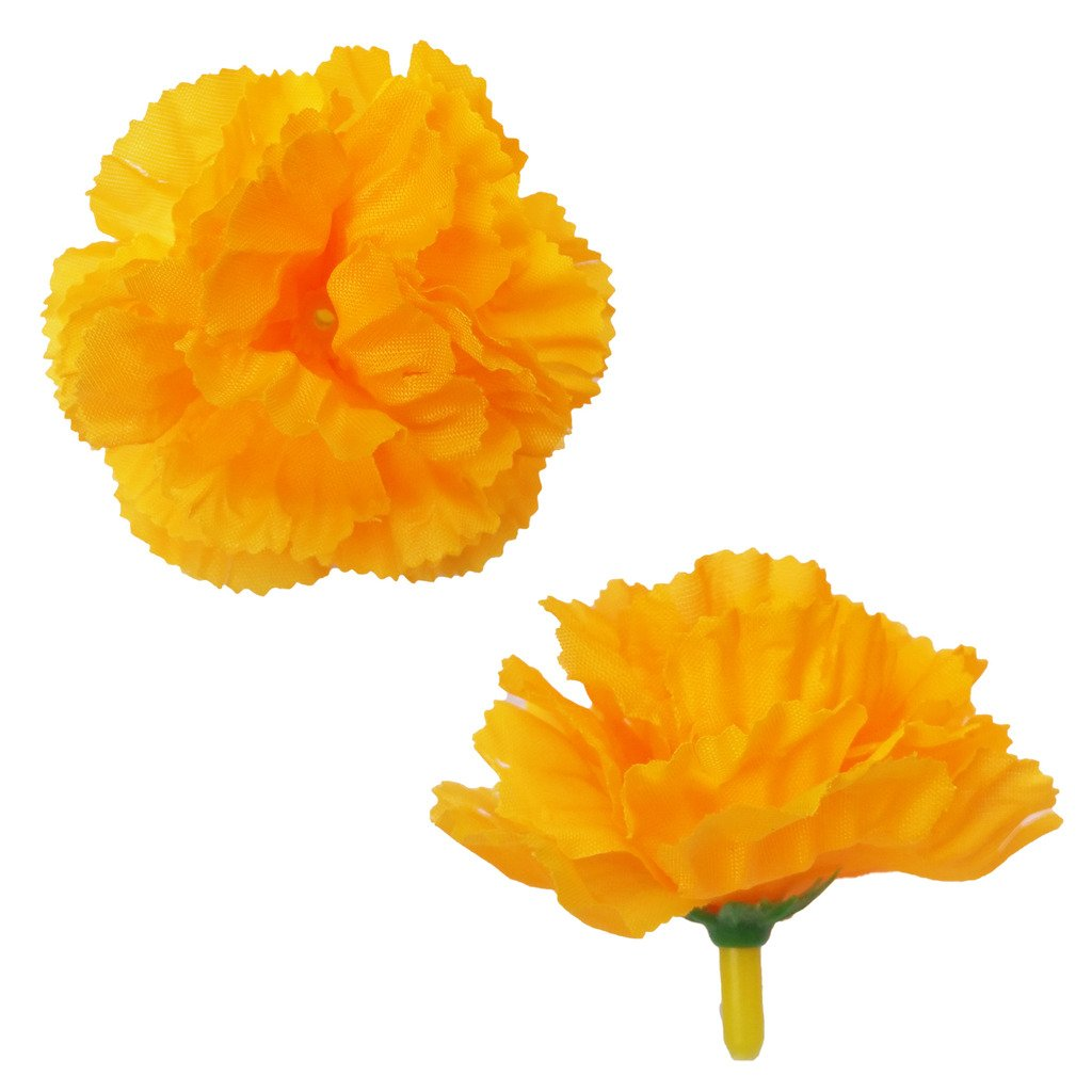 GoodGoodsThailand Thai Artificial Yellow Marigold Flowers 40 Count by GoodGoodsThailand