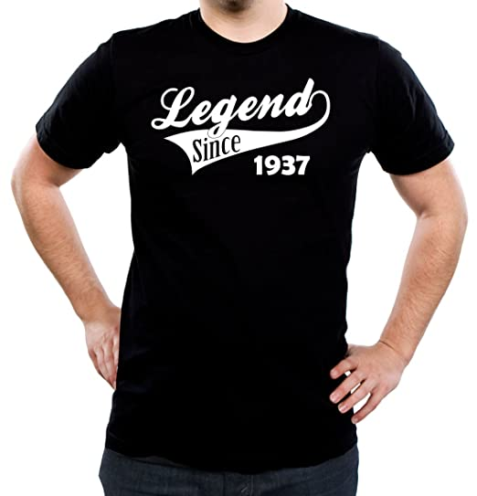 LEGEND Since 1937 Mens 80th Birthday T Shirt