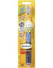 ARM & HAMMER Spinbrush Globrush Battery Powered Toothbrush, Soft Bristles, Assorted Colours