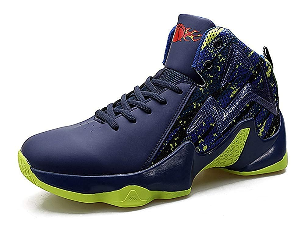 bluee 8.5 D(M) US Beautiful  Fashion Men's Stylish Laceup Basketball shoes Breathable Athletic Running Sports Youth Sneakers(US 6.5~11)