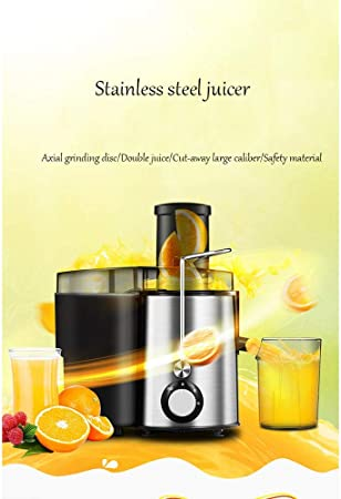 Opinión sobre WZB Exprimidor eléctrico Big Mouth Juice Extractor, 250 vatios, Motor silencioso y exprimidor en frío con Cepillo, Recetas de Jugo para Vegetales y Frutas
