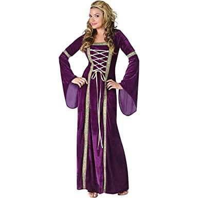Amazon fun world womens deluxe renaissance lady costume clothing fun world costumes funworld deluxe renaissance lady purple smallmedium 2 8 solutioingenieria Choice Image