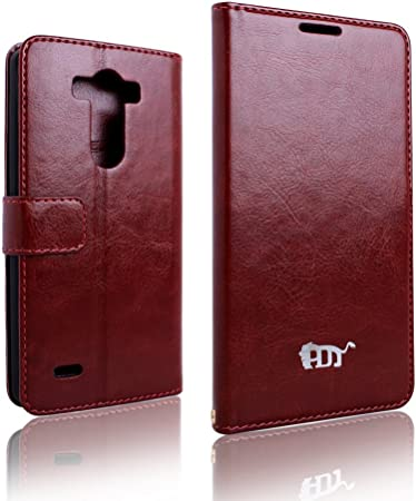 Pdncase Funda de Cuero para LG G3 LG-F400 Wallet case cover Color Marrón: Amazon.es: Electrónica