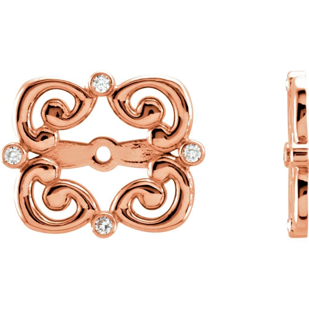 14K Rose .08 CTW Diamond Earring Jackets by STU001-