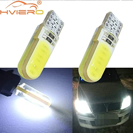 10X T10 W5W LED Car Interior Light COB Bulb Wedge Parking Dome Lamp 6000K White