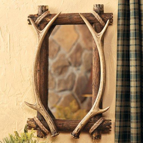 BLACK FOREST DECOR Rustic Farmhouse Framed Hanging Wall Mirror Décor for Bathroom, -