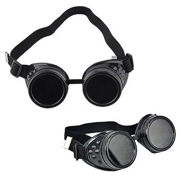 OFKPO Gafas Protectoras, Gafas de Soldadura en Steampunk Estilo para Cosplay: Amazon.es: Electrónica
