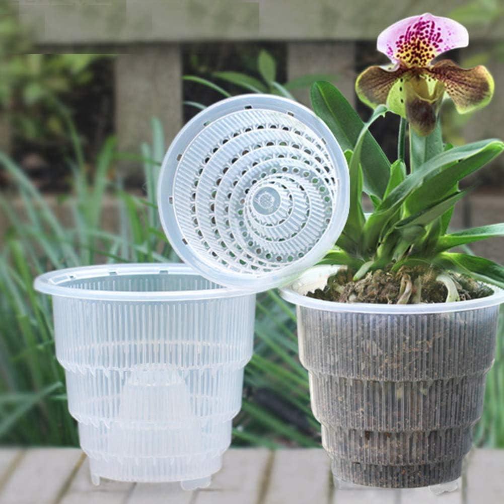 Orchidee Vaso Vaso Fiori Rotondo in Plastica Vaso Piante Vaso Crema